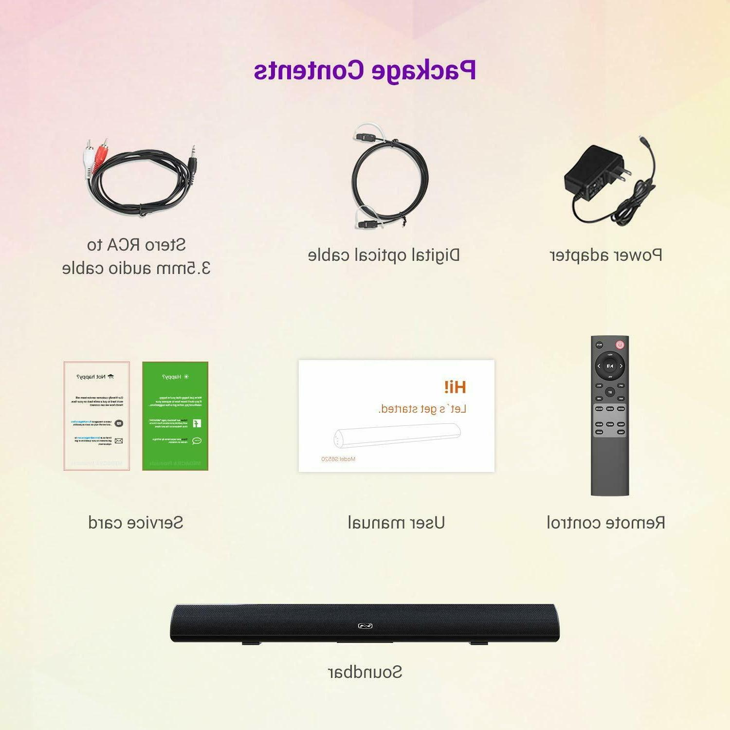 Home Theater System Wireless Surround Sound Bar For TV, PC,