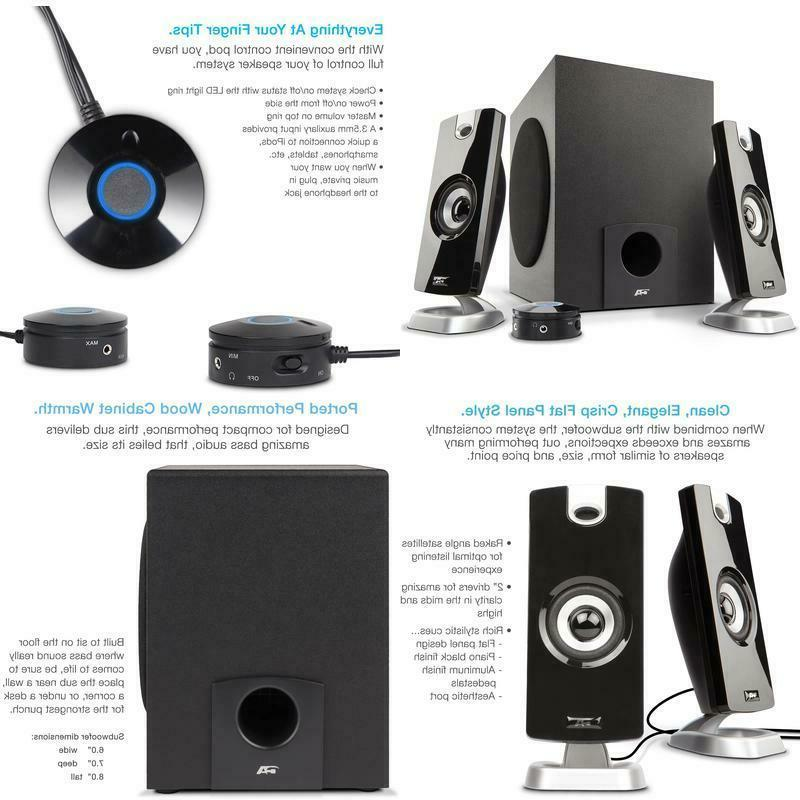 laptop computer pc speaker system 2 1