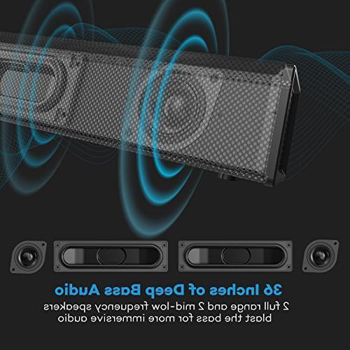 Soundbar, 4 Strong TaoTronics Bar Bluetooth TV