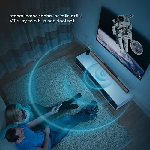 Soundbar, Strong Bass TaoTronics Bar and Wireless Bluetooth TV