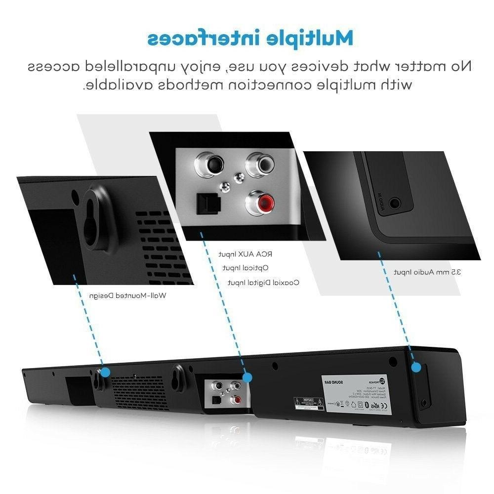 Soundbar TaoTronics Sound Wired and Wireless