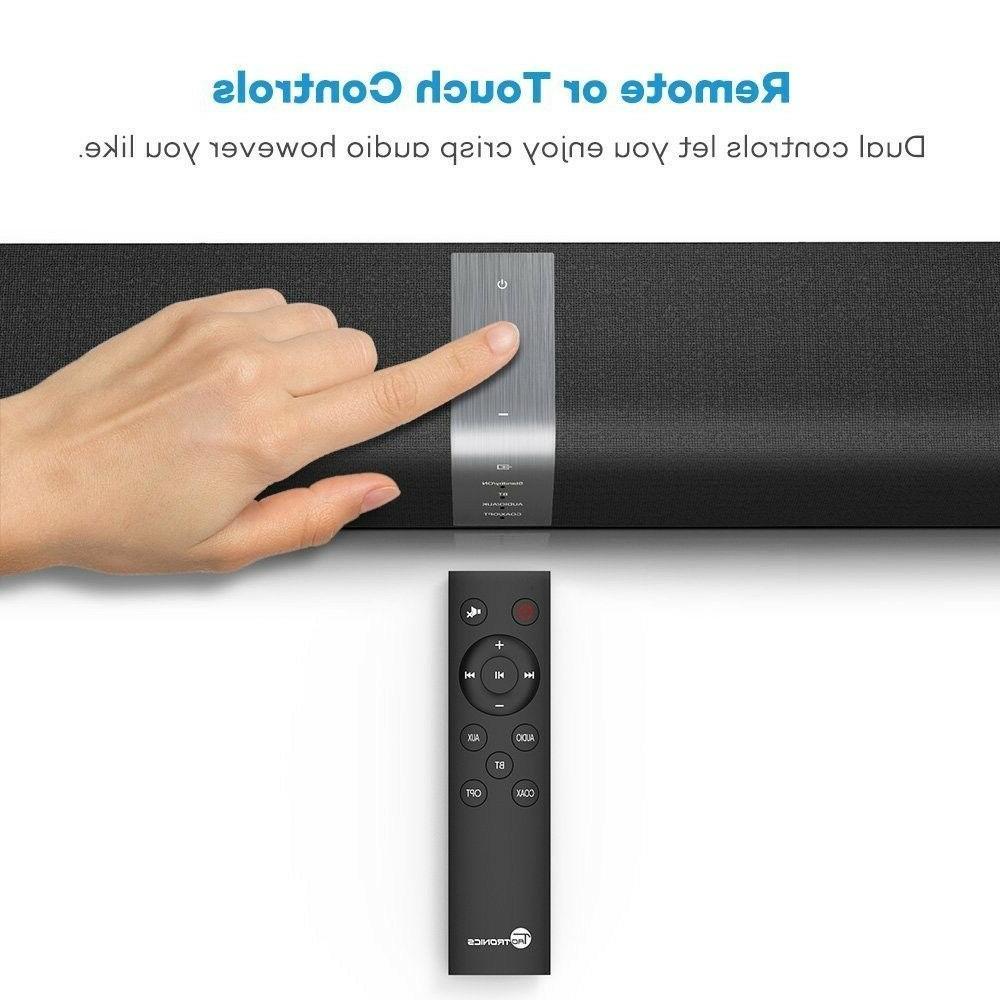 Soundbar TaoTronics Bar Wired and Wireless Audio 34-Inch
