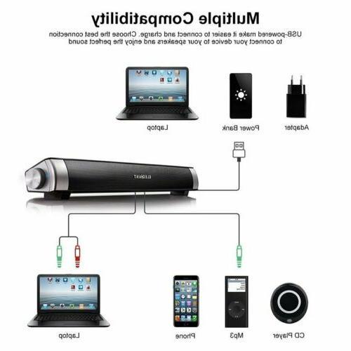Surround Sound Bar Speaker System Subwoofer TV
