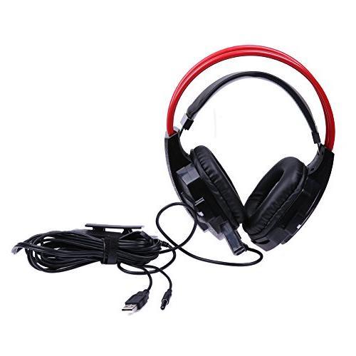 wired game surround sound headphones