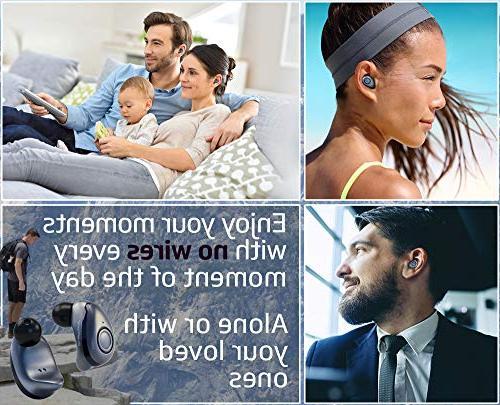 Bluephonic True Wireless Earbuds - Latest Bluetooth 5 0
