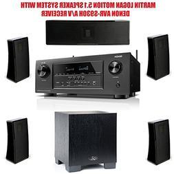 Martin Logan Motion 5.1 Speaker System with Denon AVR-S930H