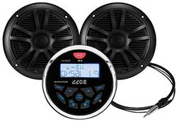 BOSS Audio MCKGB350B.6 Receiver/Speaker Package, Bluetooth,