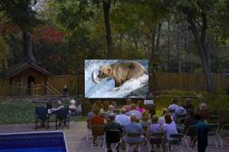 16 Foot Outdoor Movie System w Optoma 720p Projector WiFi