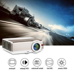 Multimedia Projector LED Video Home Theater 4200 Lumen Indoo