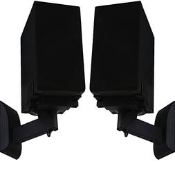 WALI One Pair of Side Clamping Bookshelf Speaker Wall Mount