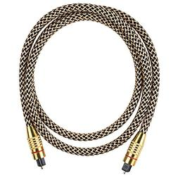SODIAL Optical Audio Cable 3.3 Feet 1 Meters Male to Male Go