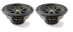 "Kicker 10C104 Comp 10"" 600 Watt 4 Ohm Car Subwoofers"