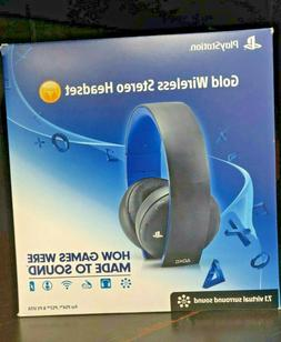 PlayStation Gold Wireless Stereo Headset - Jet Black  - FREE
