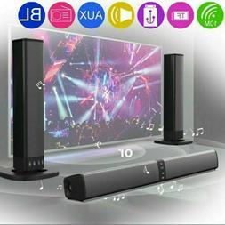 Portable Surround Sound Bar 2 Speaker System Wireless Subwoo