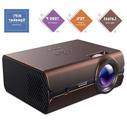 Mini Movie Projector, Excelvan +70% Brighter Lumens Video Pr