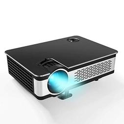 "1080P Projector.Updated 5.5"" HD Video Projector with 210"" Di"