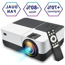 Overhead Projector, KISDISK Home Theater Video Projector 108