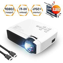 Azk Projectors,Mini Video Projector, 50% Brighter 176'' Disp