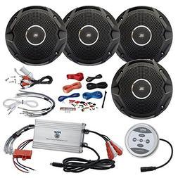 EnrockMarine Pyle 1200 Watt Amp Bluetooth 4-Channel Amplifie