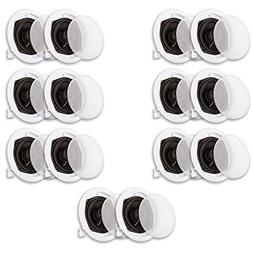 Acoustic Audio R191 In Ceiling / In Wall Speaker 7 Pair Pack