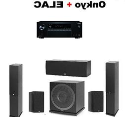 Onkyo Receiver  + Pair of Elac F5.2 Floorstanding Tower + EL