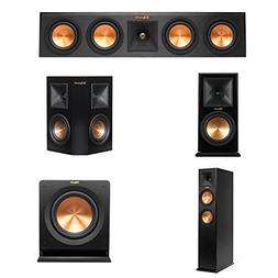 "Klipsch RP-440C Center Channel Speaker Bundle 10"" Subwoofer,"