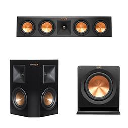 """Klipsch RP-440C Center Channel Speaker Bundle 10"""" Subwoofer"""