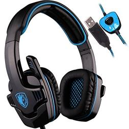 SADES SA901 Over Ear USB Wired 7.1 Surround Noise Cancelling