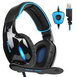 SADES SA902 Gaming Headset Headphone Stereo 7.1 Channel USB