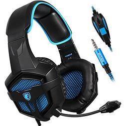 Sades SA-807 Stereo Gaming Headset Headphones 3.5mm Wired Ov
