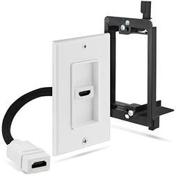 Fosmon Single Port Gold Plated HDMI Pigtail Cable Wall Plate