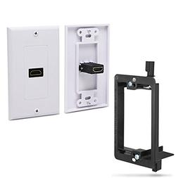 Fosmon Single Port Gold Plated HDMI with Ethernet Wall Plate