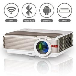 LED Movie Projector Bluetooth Wifi Android 6.0 HD HDMI 4200
