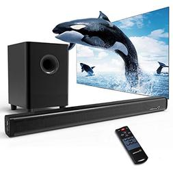 2.1 Channel Sound Bar, Wohome TV Soundbar with Subwoofers an