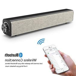 Sound Bar, Wired and Wireless Soundbar, 20W Stereo Bluetooth