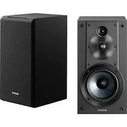 Sony SSCS5 3-Way 3-Driver Bookshelf Speaker System, Black