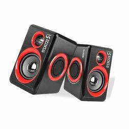 Surround Computer Speakers with Deep Bass USB Wired Powered