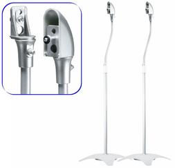 Two Silver Floor Speaker Stands for Home Theater Surround So
