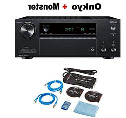 Onkyo TX-NR787 9.2 Channel Network A/V Receiver Black + Mons