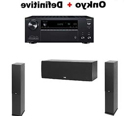 Onkyo TX-NR686 Receiver + Pair of ELAC F6.2 2.0 Floorstandin