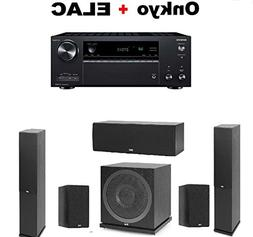 Onkyo TX-NR686 Receiver + Pair of Elac F5.2 Floorstanding To