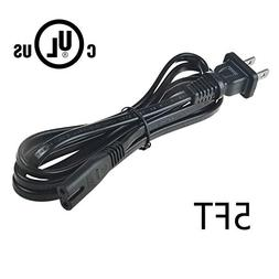 AT LCC 5ft/1.5m UL Listed AC in Power Cord Plug for ZVOX Sou